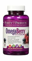 Omegaberry Fish Oil With Vitamin D3 & Organic Acai - 60 Soft Ge... Free Shipping