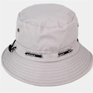 7aeb7e49475 Women Men New Bucket Sun Hats Summer Hunting Fishing Outdoor Hat ...