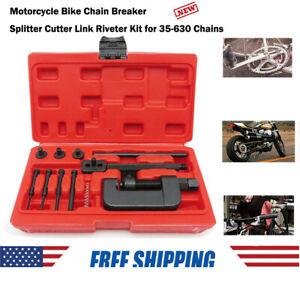 Motorcycle Bike Chain Breaker Splitter Link Riveter Bikes Riveting Tool Set S3U5