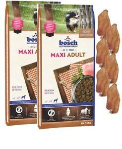 2x15kg Bosch Adulte Maxi 6 X Oreilles de Lapin