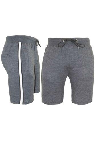HOMME D/'été Pantalon De Survêtement Polaire Côté Contraste Panneau 3 Stripes Sweat Jogging Short