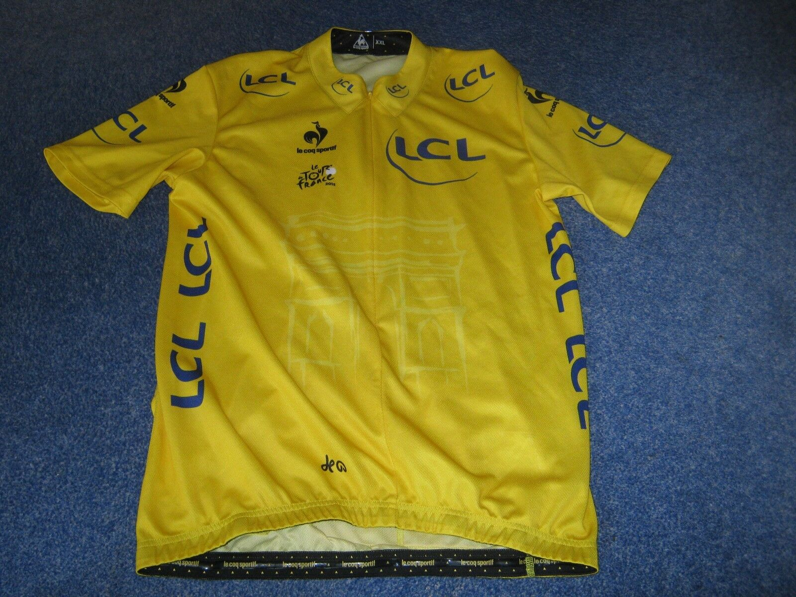 TOUR DE FRANCE 2015 LCS YELLOW LEADERS CYCLING JERSEY [XXL]