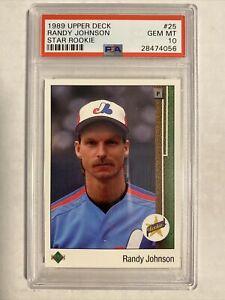 Randy Johnson Mariners Expos 1989 Upper Deck Star Rookie Card PSA 10 GEM MINT 📈