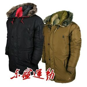 00b6de821886 NEW Nike Air Jordan Snorkel Parka 550 Down Jacket Coat Brown   Black ...