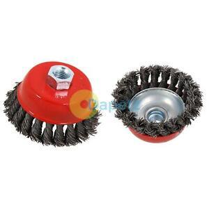 85-MM-1-3cm-Twist-Knoten-Rotierende-Stahl-Draht-Becher-Buerste-M14