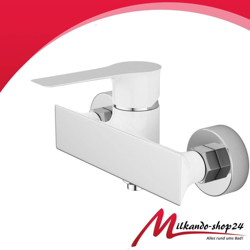 Duscharmatur Armatur Mischbatterie Einhebelarmatur Einhandmischer Dusche Weiss | Schön geformt  | Moderne Muster  | Guter weltweiter Ruf  | Verkauf