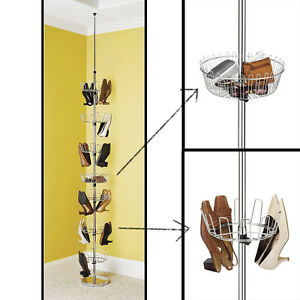 La Foto Se Está Cargando Revolving Shoe Tree Floor To Ceiling Foot Wear