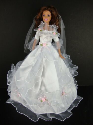 Lovely White Gown Fit for a Princess Made to Fit Barbie Doll