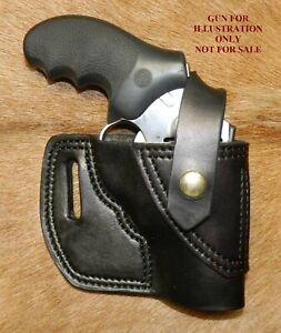 Gary C's Leather Avenger OWB RH Revolver Holster w retention strap RUGER SP 101
