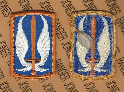 US Army 17th Aviation Brigade OD Green /& Black BDU uniform patch m//e