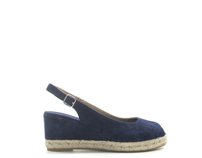 Señora zapatos señora azul serraje 83c1-na