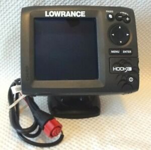 LOWRANCE-HOOK-5-CHIRP-SONAR-FISH-FINDER-GPS-CHART-PLOTTER-w-MOUNT-amp-POWER-CABLE
