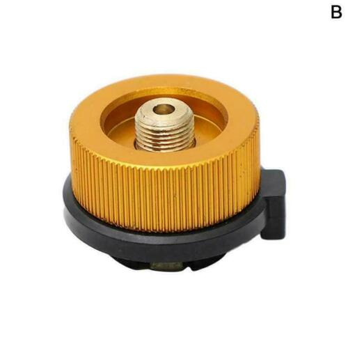 Red Stove Butane Gas Fuel Canister Metal Adapter Convert For Long Gas Best V9G0