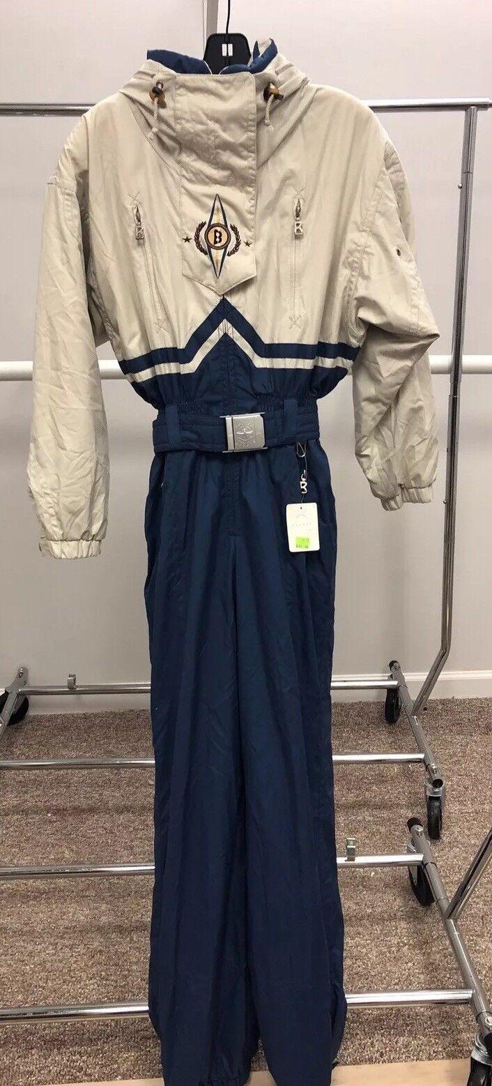 NWT Bogner Schneeanzug Frau sz 6 Besteickt mit einem Stück Kapuze Einzelhandel 670