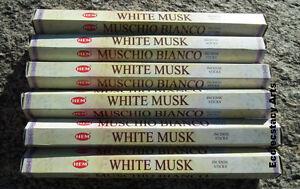 60 or 100 Sticks 20 Hem Incense WHITE MUSK You Pick Amount