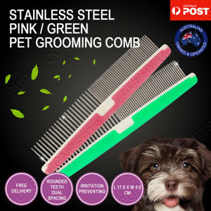 2-Colour-Stainless-Steel-Metal-Comb-Brush-Pet-Cat-Dog-Hair-Grooming-Trimmer-Pin