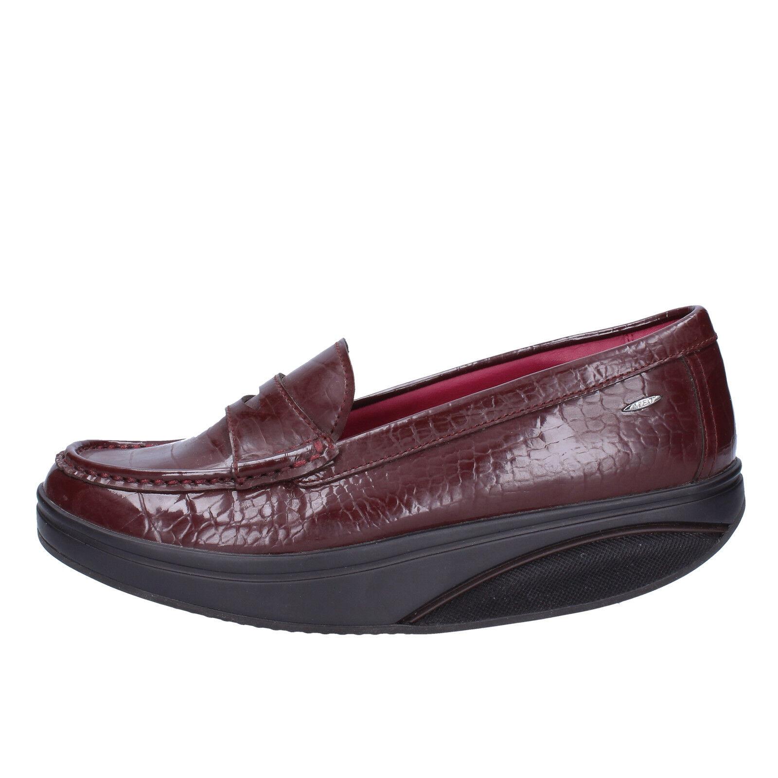100% di contro garanzia genuina Donna  scarpe MBT 6   6,5 6,5 6,5 (EU 37) loafers Marrone patent leather AB214-37  salutare