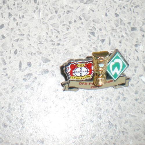 16 SV WERDER BREMEN-DFB POKAL FINALE 2009-gegen Bayer Leverkusen-in 3 DFB-PIN