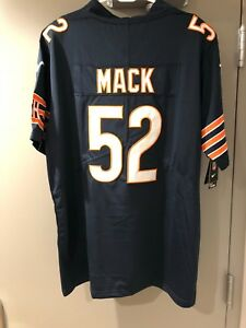 best service 25e86 872a0 Details about Khalil Mack Navy Blue Stitched Chicago Bears NFL Jersey -  Message me for Sizes!!