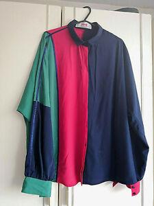 YARELL-Femme-Bleu-Rouge-Vert-Haut-Chemisier-Femme-taille-18-44-Manches-Longues-Boutons