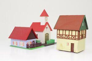 Konvolut-Spur-N-Wohnhaus-Kirche-Fachwerkhaus-fertig-aufgebaut