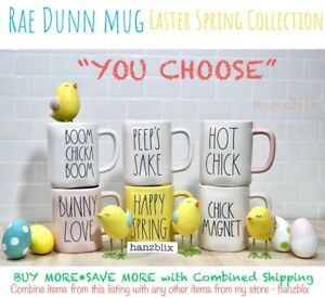 Rae-Dunn-Mug-034-YOU-CHOOSE-034-Easter-Spring-Bunny-Chick-PEEP-EGG-HUNT-NEW-039-18-039-20