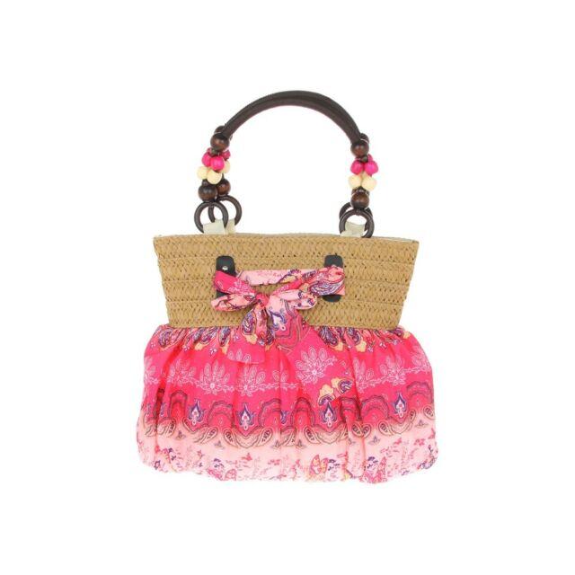 Pink Fabric Bow Shoulder Bag/Handbag by Equilibrium