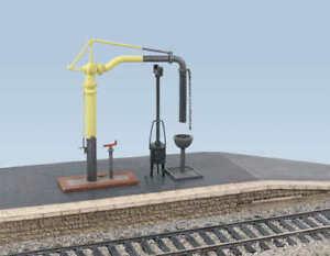 Ratio-413-Water-Crane-amp-Fire-Devil-00-Gauge-New-Plastic-Kit-1st-Class-Post