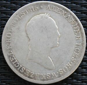 POLOGNE-5-ZL-ALEXANDRE-I-1829-ARGENT