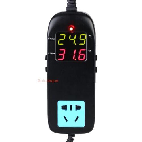 Termostato Electronico Digital LED Controlador Temperatura /& Enchufe 90V-250V AC