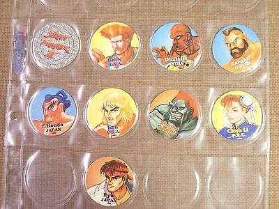 POGS//MILKCAPS STREET FIGHTER II COMPLETE DATED 1993 SET OF 9