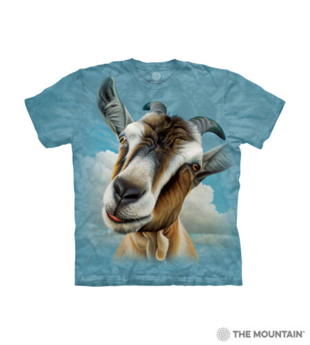 The Mountain 100/% Cotton Blue Kids T-Shirts Goat Head S-M-L Made in USA NWT