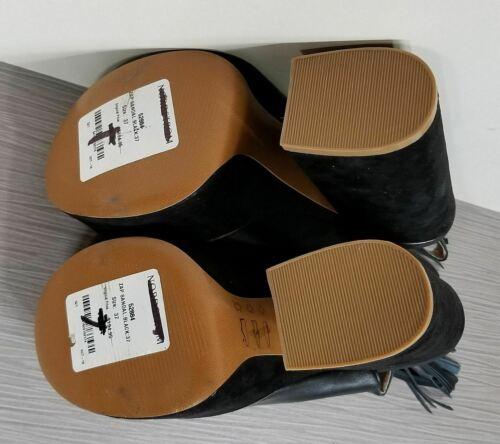 Women/'s Various Sizes Black Leather Shellys London /'Zap/' Platform Sandal