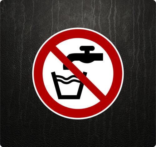 Verbotszeichen P005 Kein Trinkwasser Aufkleber Verbotsschild Kennzeichnung