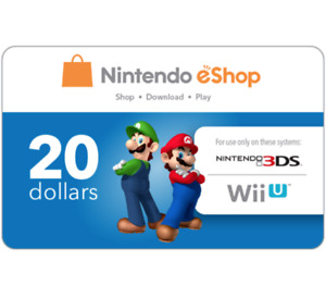 Nintendo eShop Gift Code $25 $35 or $50 - Fast Email Delivery