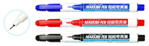 Black Blue Red Planner Marker Pen Extra Fine 0.5 mm Simbalion CHOOSE YOUR COLOR