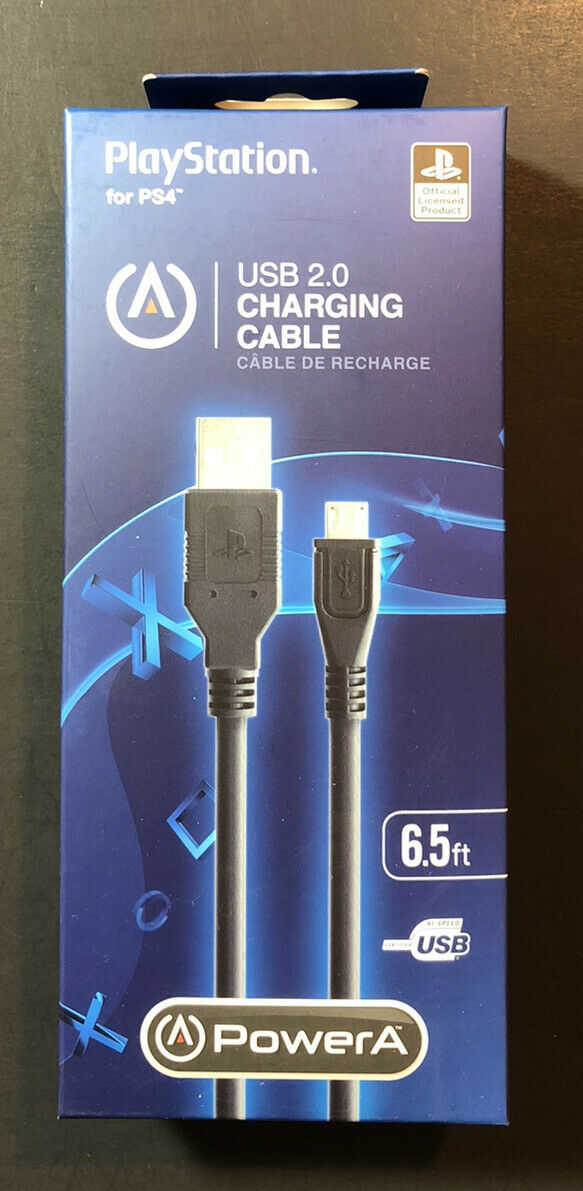 Official PS4 Controller Charging Cable 6.5ft USB 2.0 NEW