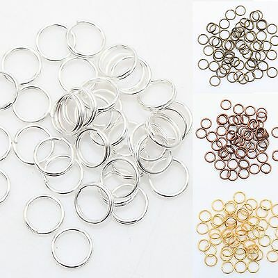 Silver/Gold/Bronze/Copper Color Metal Double Split Jump Rings 4/5/6/8/10/12MM