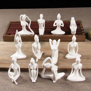 1x-Ceramic-Yoga-Girl-Yogi-Porcelain-Figure-Statue-Ornament-Art-Decor-Modern-Gift