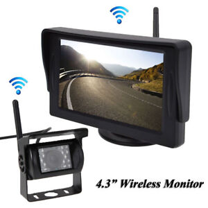 "Rear View Monitors/cams & Kits Wireless 4.3"" Monitor Reversing Camera Rear View Kit 124v 24v Truck,caravan,boat Car Video"