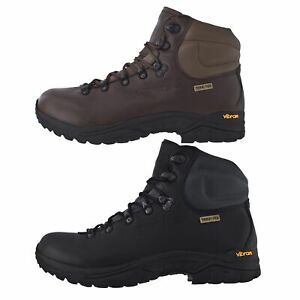Trespass-Walker-Youths-Leather-Boots-Boys-Girls-Breathable-Walking-Hiking-Shoes