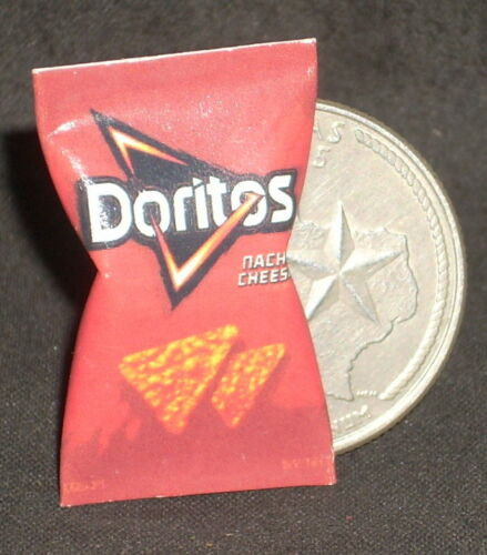 Dollhouse Miniature Doritos Chips 1:12 Tex Mexican Snacks Food Football Nacho