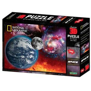 National-Geographic-3D-SPACE-Puzzle-500-Piece-Jigsaw-Puzzle-New-sealed-24X18