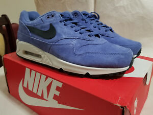 Nike Air Max 90 1 Mens Purple Basalt Anthracite Suede Lifestyle ... 4284c541f