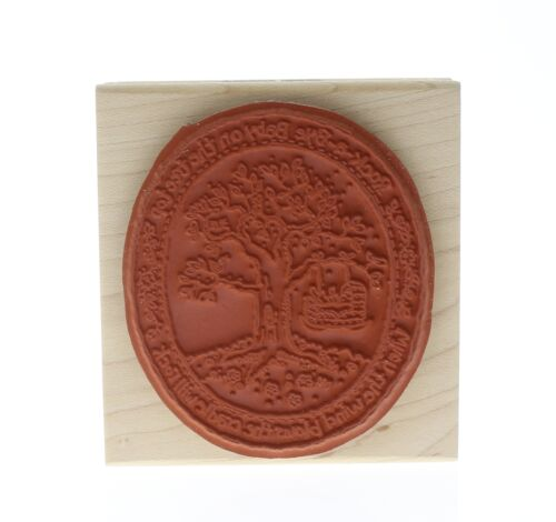 Stampington And Co Rock a Bye Baby Karen Foster Wood Mount Rubber Stamp