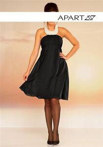Apart Abendkleid Gr 42 44 Schwarz Chiffon Mit Perlen Cocktailkleid Kleid Neu Ebay