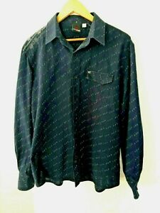Rip-Curl-Men-039-s-size-M-Shirt-034-The-Search-034-Navy-Blue-Long-Sleeve-Casual-Cotton