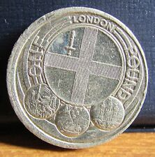 2010 UK £1 One Pound Coin - London England Design