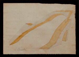 Virgilio Marchi, Futurismo plastico, disegno e acquarello, 19x26.5 cm, firmato