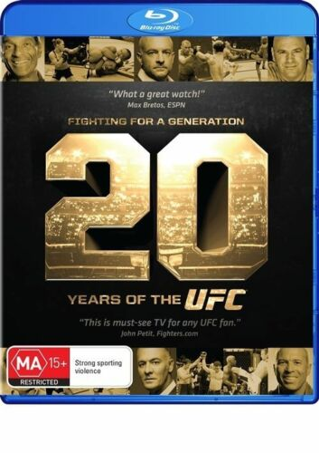 1 of 1 - UFC: Fighting For a Generation: 20 Years of the UFC Blu-ray Discs NEW
